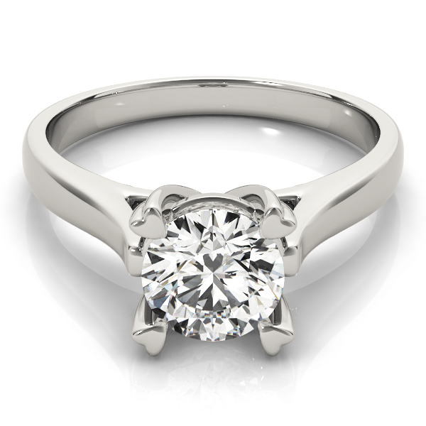 Petite Cathedral Solitaire Engagement Ring