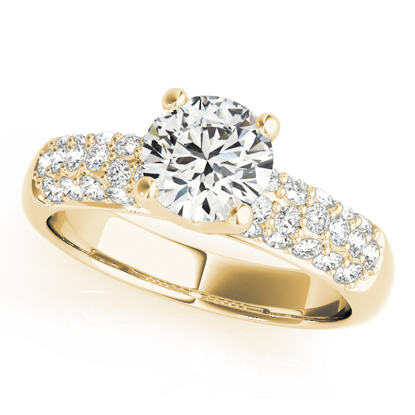 Etoil Pave Diamond Engagement Ring in Yellow Gold