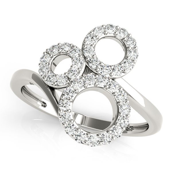 Tri Circle Swirl Diamond Ring
