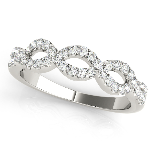 Infinity Shaped Diamond Ring