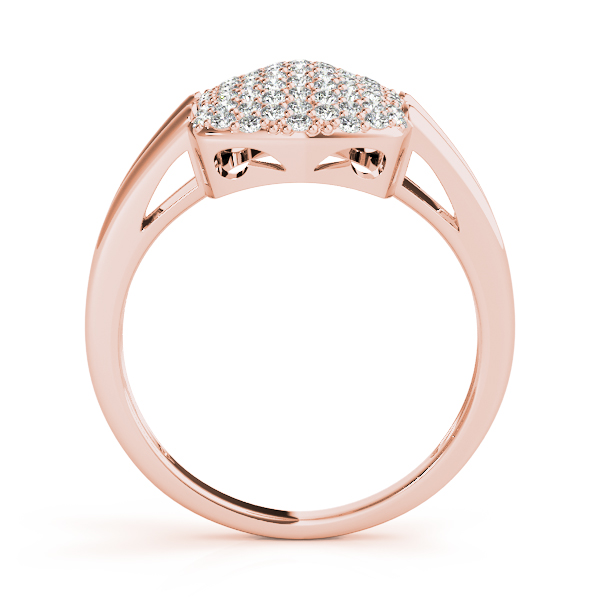 Rectangle Diamond Cluster Rose Gold
