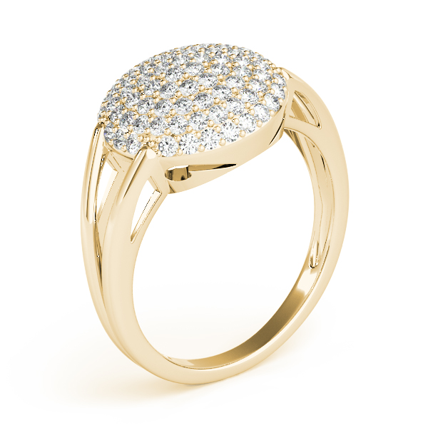 Round Diamond Cluster Ring Yellow Gold
