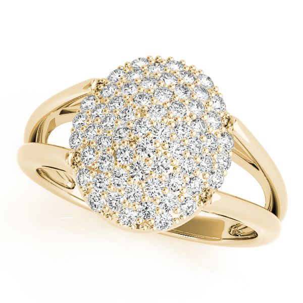 Oval Diamond Cluster Ring Yellow Gold
