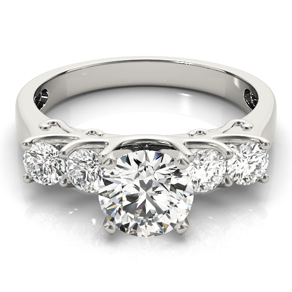 Four Stone Diamond Engagement Anniversary Ring, Engraving