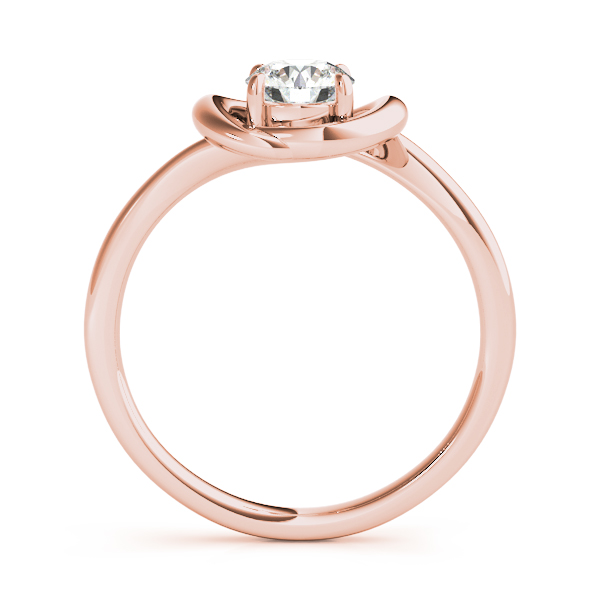 Solitaire Love Knot Engagement Ring Rose Gold