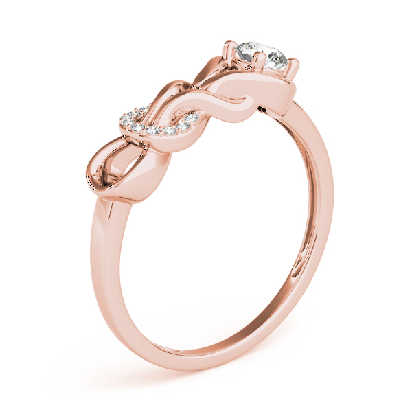 Double Diamond Love Knot Rose Gold