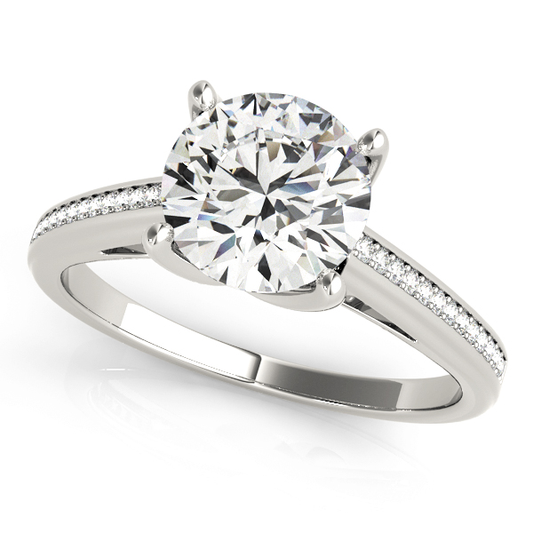Cathedral Petite Diamond Engagement Ring for 1.5ct Diamond