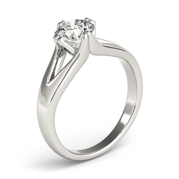 Split Band Solitaire Diamond Ring