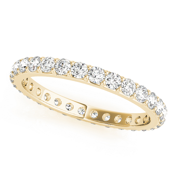 Round Diamond Eternity Band 1.25 Ct Yellow Gold
