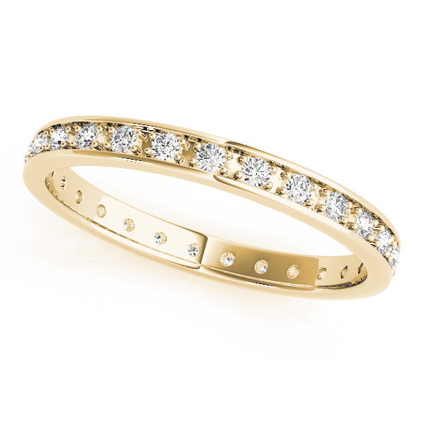 Petite Diamond Eternity Band Yellow Gold