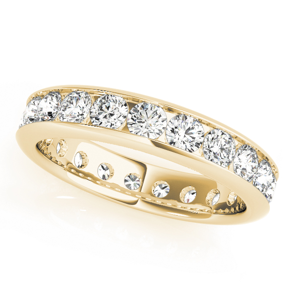 Channel Diamond Eternity Band 1.04 Ct Yellow Gold