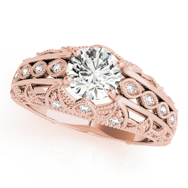Filigree Swing Diamond Ring Rose Gold