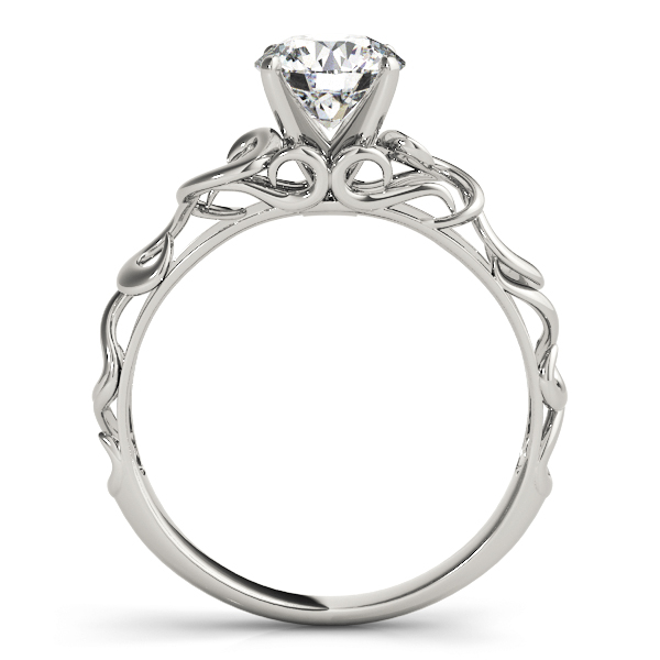 Filigree Solitaire Engagement Ring in Platinum