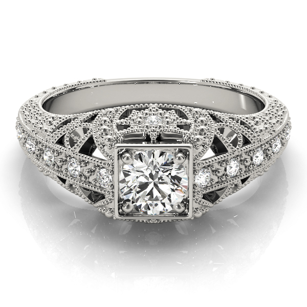 Vintage Filigree Diamond Anniversary Ring