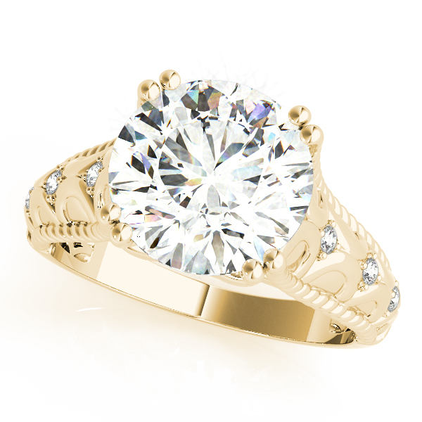 Butterfly Engagement Ring for Large Diamonds Yellow Gold