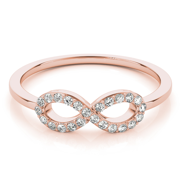 Petite Diamond Infinity Ring Rose Gold