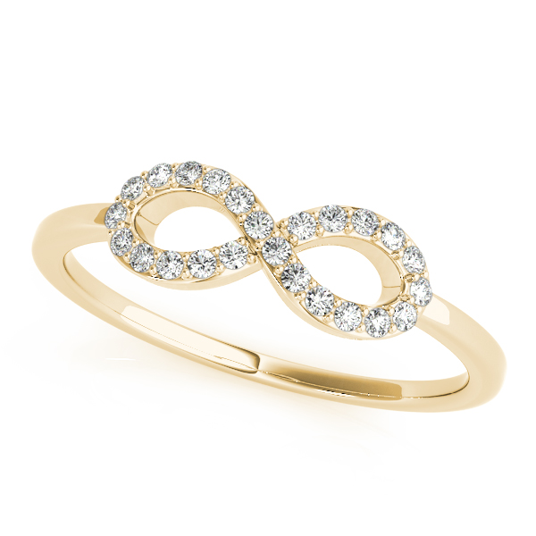 Petite Diamond Gold Infinity Ring
