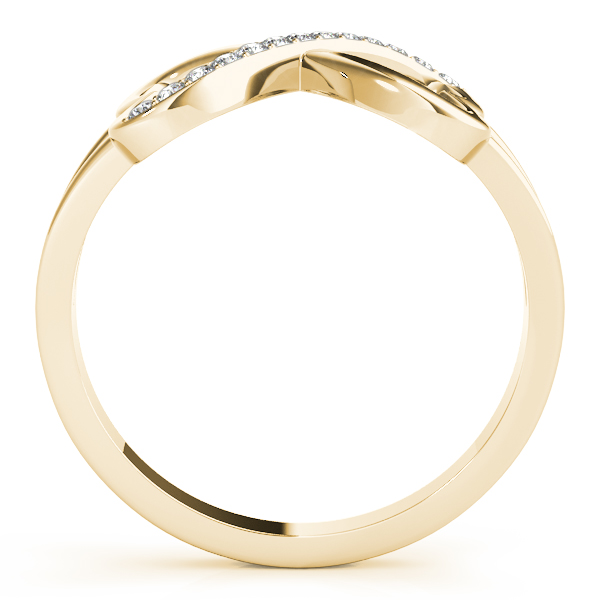 Heart Diamond Gold Infinity Ring
