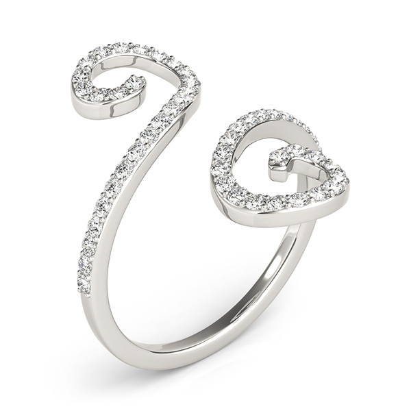 S Shaped Swirl Diamond Petite Band