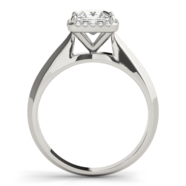 Solitaire Diamond Princess Halo Engagement Ring