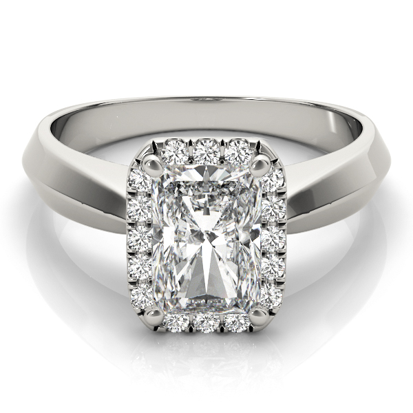 Solitaire Diamond Radiant Halo Engagement Ring