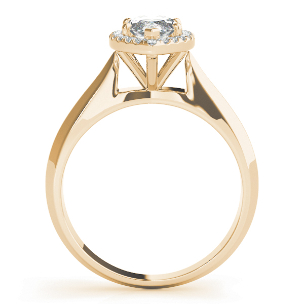 Solitaire Diamond Marquise Halo Engagement Ring Yellow Gold