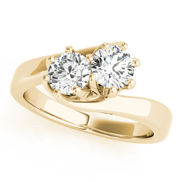 Duo Swirl Round Diamond Promise Ring