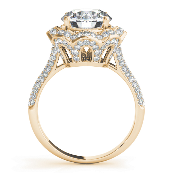 Etoil Royal Halo Engagement Large Ring Engagement Ring
