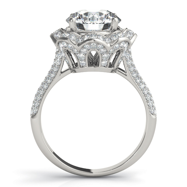 Etoil Crown Halo Edwardian Large Engagement Ring