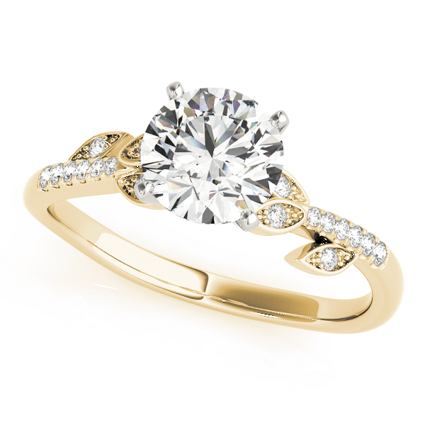 Open Vine Diamond Engagement Ring Yellow Gold