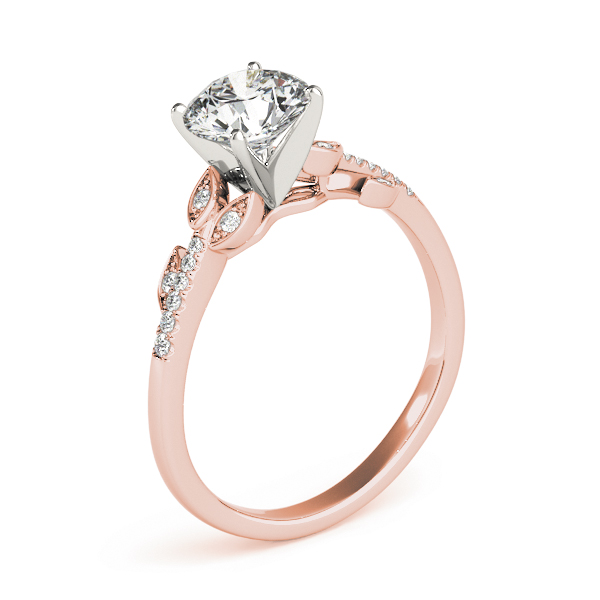 Open Vine Diamond Engagement Ring in Rose Gold