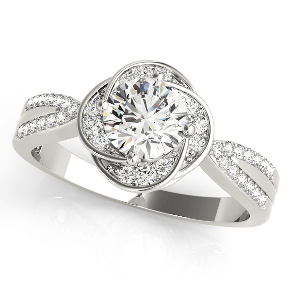 Floral Halo Diamond Ring