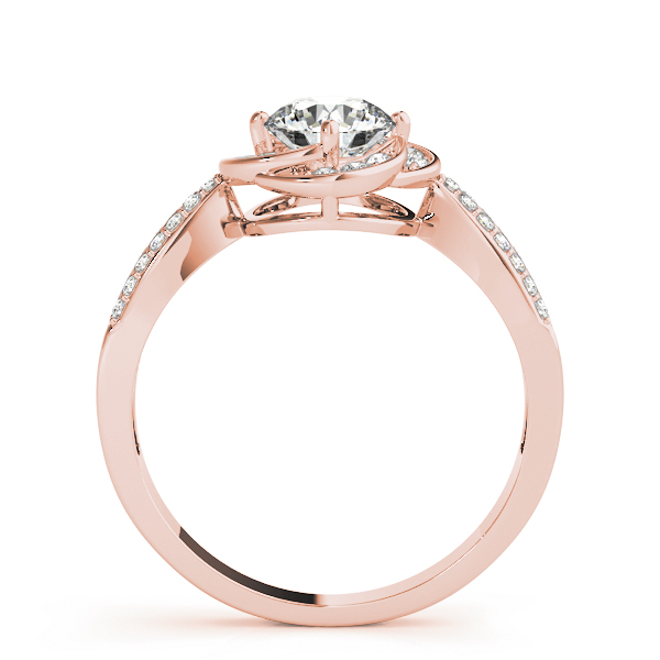 Floral Halo Diamond Ring Rose Gold