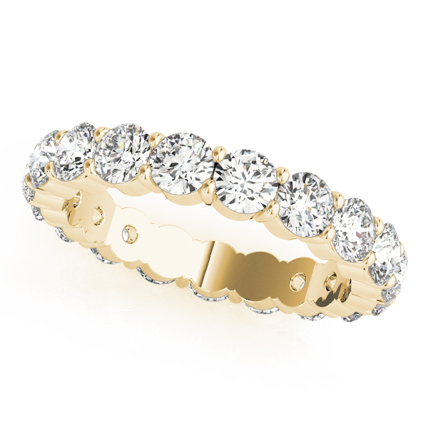 Round Diamond Eternity Band 0.87 Ct Yellow Gold