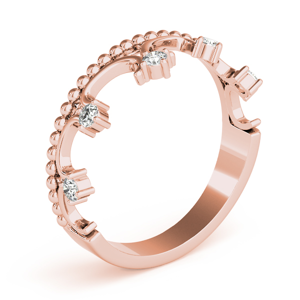 Crown Diamond Ring Rose Gold