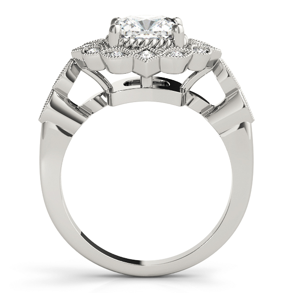 Cushion Swing Halo Diamond Engagement Ring