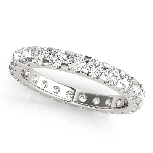 U Cut Round Diamond Eternity Band 0.87 Ct