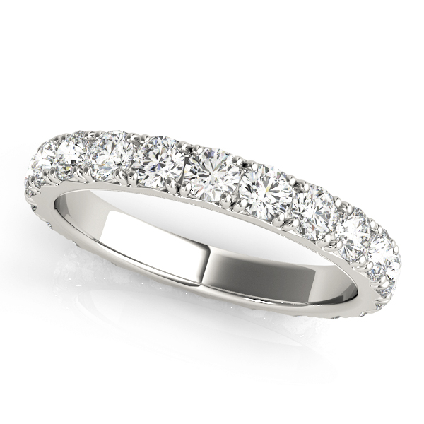 Round Diamond Eternity Band 1.61 Ct Platinum