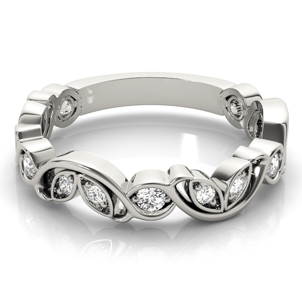 Floral Vine Diamond Stackable Ring