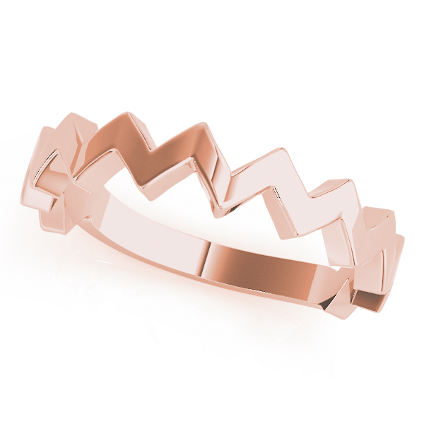 Herringbone Rose Gold Stackable Ring