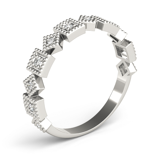 Square Argyle Diamond Stackable Ring
