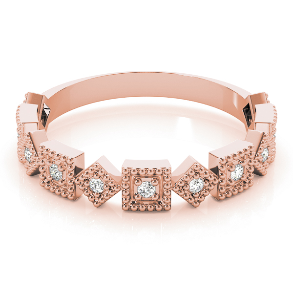 Argyle Diamond Rose Gold Stackable Ring