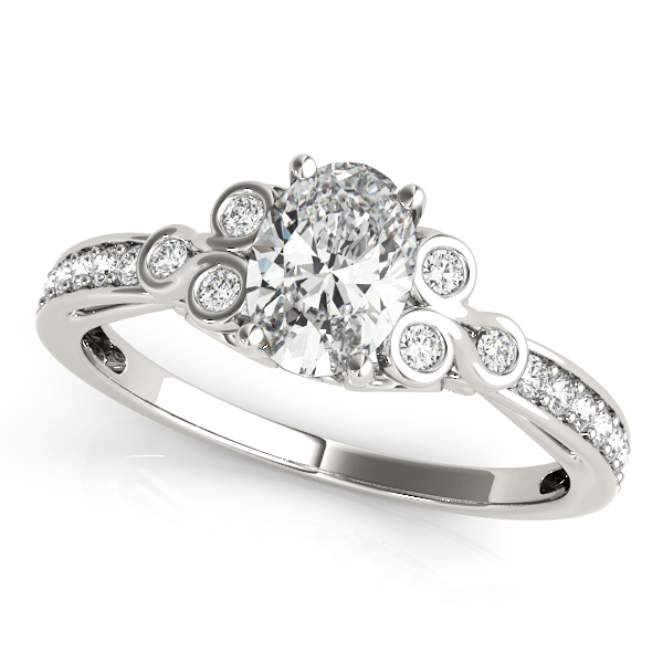 Oval Trinity Diamond Engagement Ring