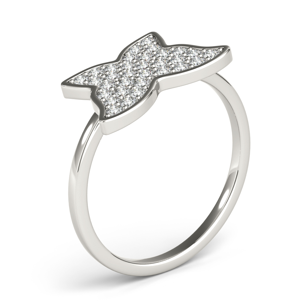 Diamond Cluster Butterfly Ring