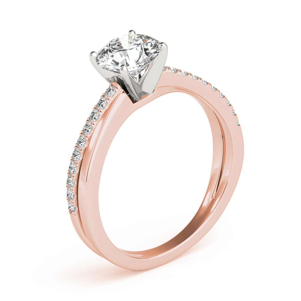 XO Split Band Engagement Ring Rose Gold