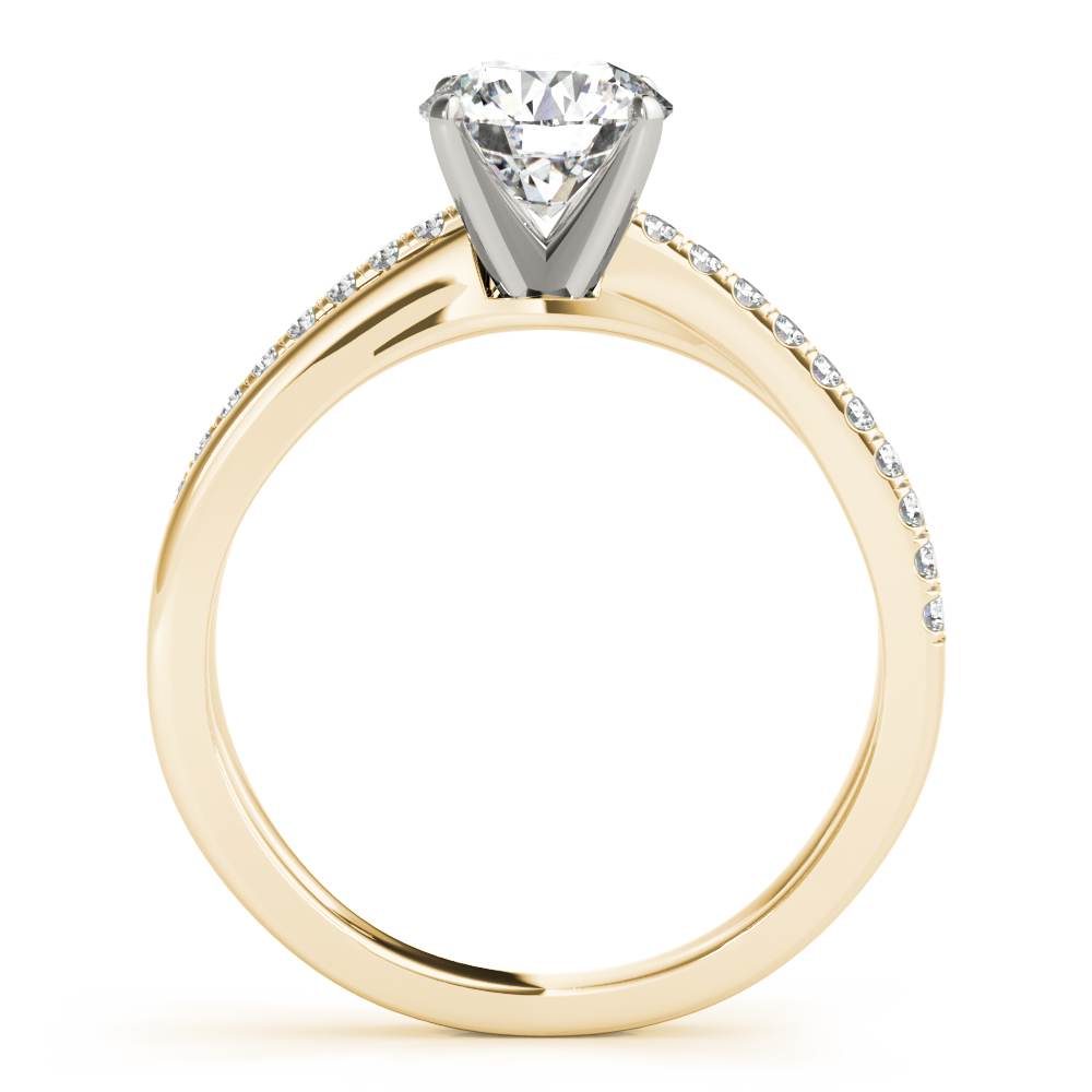 XO Split Band Engagement Ring Yellow Gold