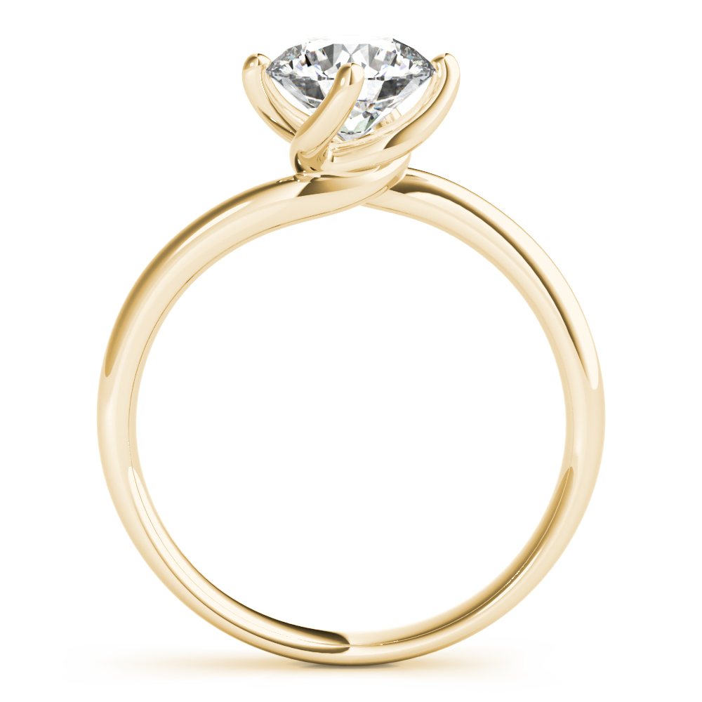Swirl Solitaire Engagement Ring Yellow Gold