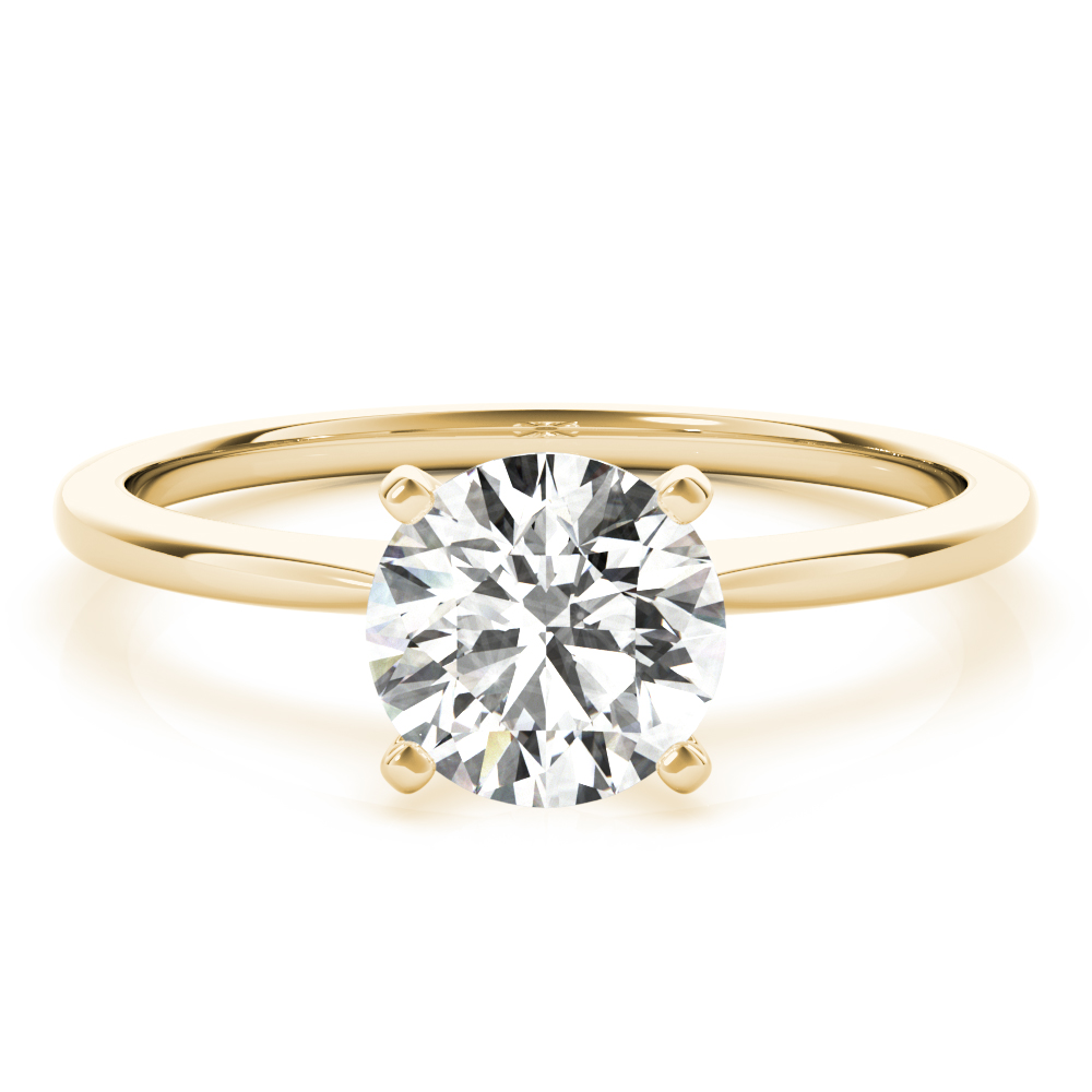 Yellow Gold Solitaire Engagement Ring