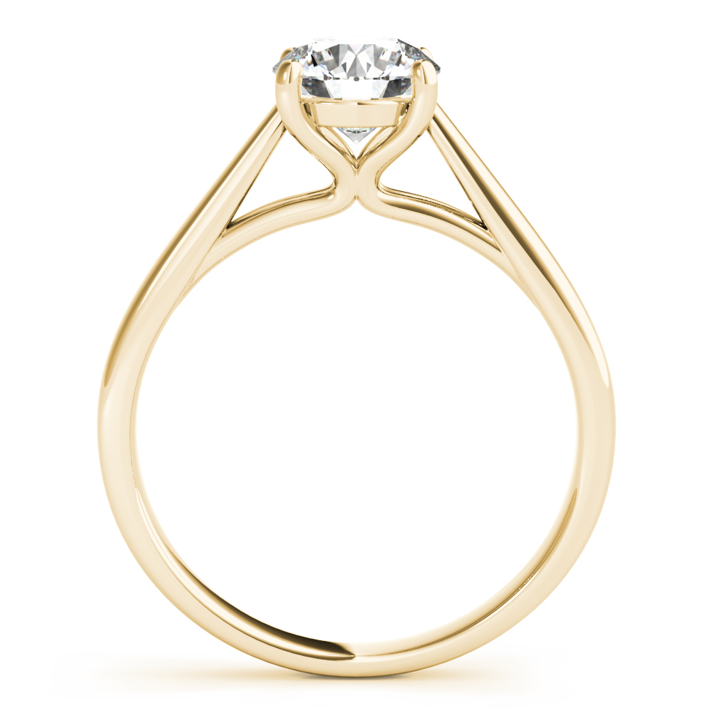 Unique Solitaire Engagement Ring Yellow Gold