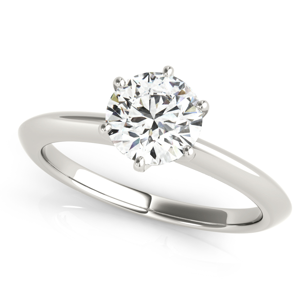 Solitaire Novo Knife Edge Engagement Ring
